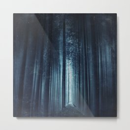 worse dream - spooky forest scenery with bird Metal Print