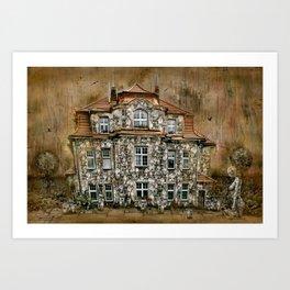 Townhouse Living Art Print