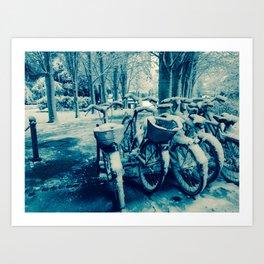 blue snow Art Print