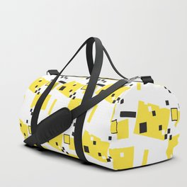 Abstract Yellow Taxi  Duffle Bag