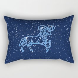 Aries Constellation and Zodiac Sign with Stars Rectangular Pillow