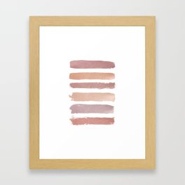 Dusty Rose Stripes Framed Art Print