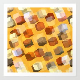 transparent cubes Art Print