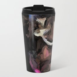 Eclectic Pink Glass Travel Mug