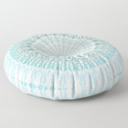 Turquoise White Mandala Floor Pillow