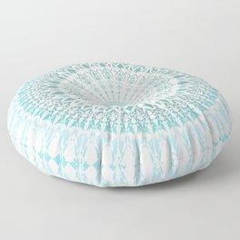 Turquoise White Mandala Floor Pillow