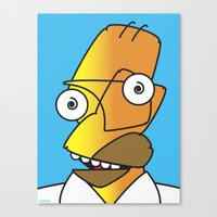 homer Canvas Prints featuring HOMER PICASSO by Laertis Art