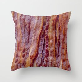 Fried Bacon Throw Pillow