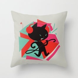 Air Cat Throw Pillow