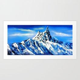 Panoramic View Of Everest Mountain Peak Art Print