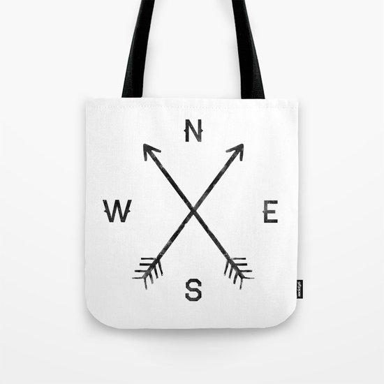 Compass (White) Tote Bag