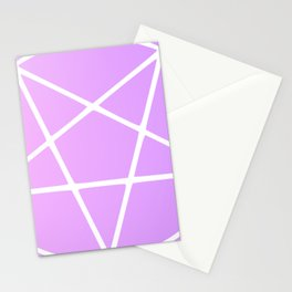 Pastel Pentagram (white magick remix) Stationery Cards