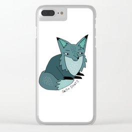 Soju Shots Fox Clear iPhone Case