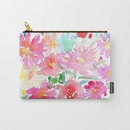 Blooming bouquet #2 || watercolor Carry-All Pouch