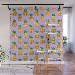 Pineapple Pattern Design Wall Mural