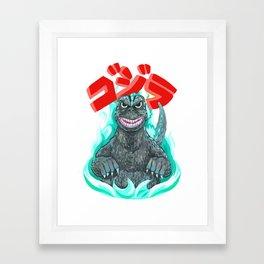 Godzilla! Framed Art Print