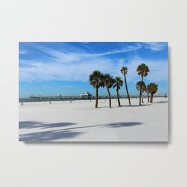 Clearwater Pier And Beach Metal Print