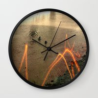 swimming Wall Clocks featuring swimming by jlara