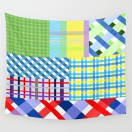 Crazy Plaid Spring Wall Tapestry