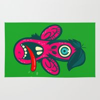 cyclops Area & Throw Rugs featuring Frightened Cyclops by Artistic Dyslexia