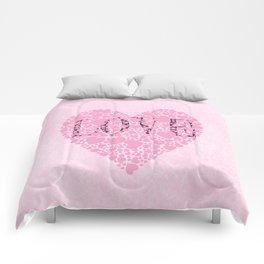 Pink Hearts Comforters