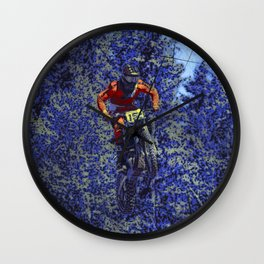 Finish Line Jump - Motocross Racing Champ Wall Clock