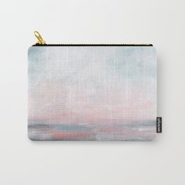 Stormy Seas - Gray & Pink Seascape Carry-All Pouch