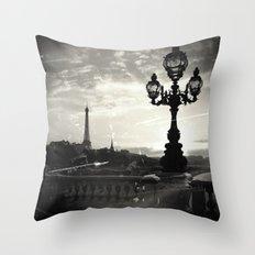 Mysterious Paris Throw Pillow