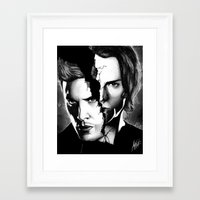 winchester Framed Art Prints featuring Winchester Bros. by ArtisticCole
