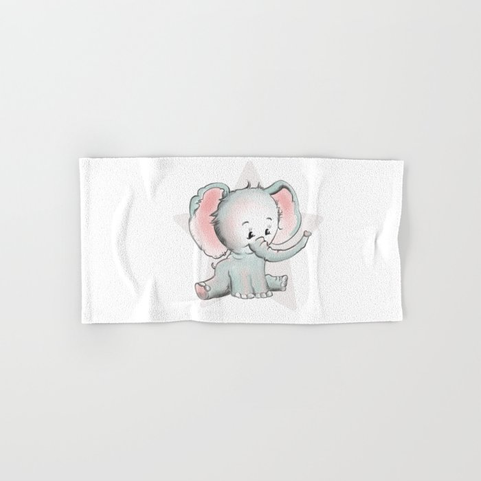 Baby Elephant Hand & Bath Towel