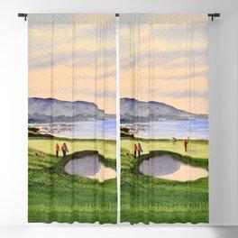 Pebble Beach Golf Course 9th Green Blackout Curtain