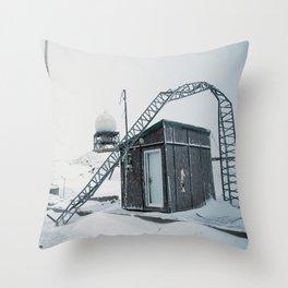 Abandon Iqaluit D.E.W. Line Site 1 Throw Pillow