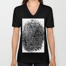Fingerprint Unisex V-Neck