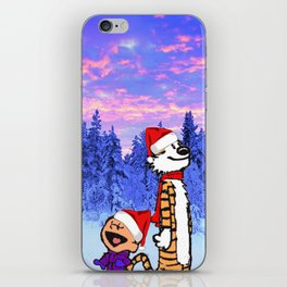 Calvin Christmas iPhone Skin
