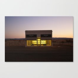 Outside Marfa at Sunset II Canvas Print