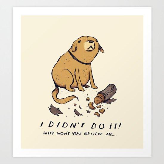 guilty dog Art Print