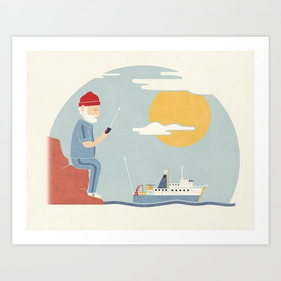My RC Boat Art Print