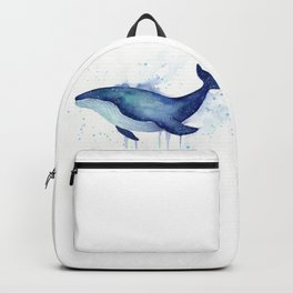 Whale Galaxy Watercolor Backpack