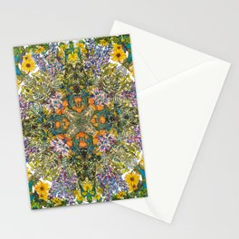 Spring Wildflower Bloom at Colorado Lagoon in California, Mandala Stationery Cards