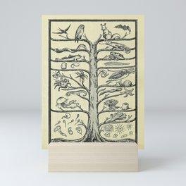 Evolution Tree Mini Art Print