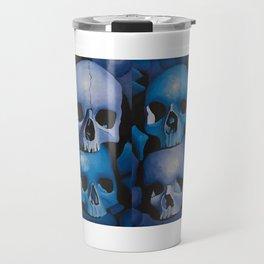 Blue & Purple Skulls Travel Mug