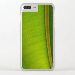 Green Harmony Clear iPhone Case
