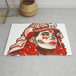 Skull Candy Samurai Cherry Rug