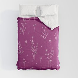 Magic Wine Wildflowers Comforters