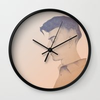 alex turner Wall Clocks featuring Alex Turner by tangledribbons