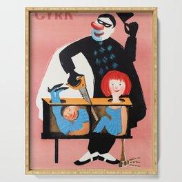 Cyrk - contemporary Polish circus poster Serving Tray