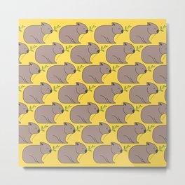Wombat Parade II Metal Print
