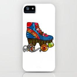 Roller Skates in Motion iPhone Case