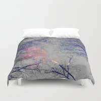 led zeppelin Duvet Covers featuring Led strip lights by haroulita
