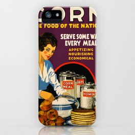 Vintage poster - Corn iPhone Case